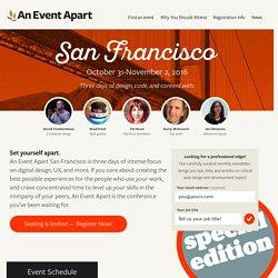 An Event Apart: San Francisco 2016