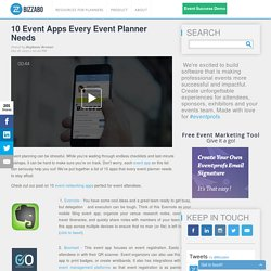 10 Event Apps Every Event Planner Needs