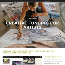 Fund Your Art, Event & Career — The Grove Center for the Arts & Media
