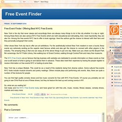 Free Event Finder: Free Event Finder: Offering Best NYC Free Events