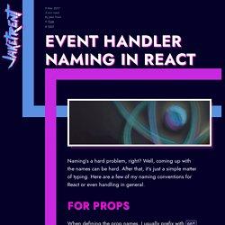 Event Handler Naming in React