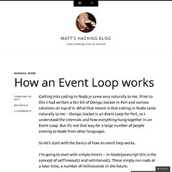 How an Event Loop works
