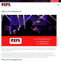 What is Event Management? - Countrywide