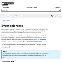 Event reference