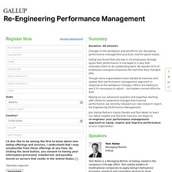 Re-Engineering Performance Management - On demand webinar from Gallup