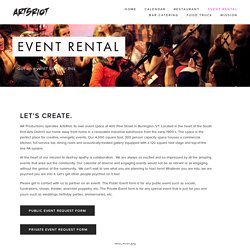 Event Rental — ArtsRiot