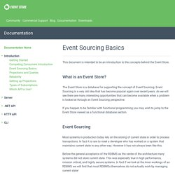 Event Sourcing Basics — Event Store