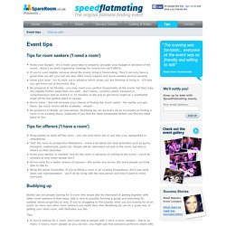Event tips › SpeedFlatmating