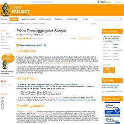 Prism EventAggregator Sample