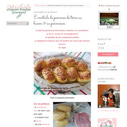 Éventails de pommes de terre au bacon & au parmesan