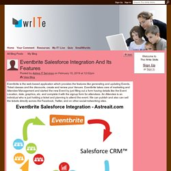 Eventbrite Salesforce Integration And Its Features - The Write Skills