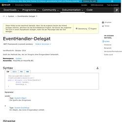 EventHandler-Delegat (System)