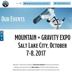Mountain + Gravity Expo 2017: Make a Difference in Outdoor Sports