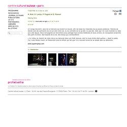 "20140610 Theatre: ""Staying Alive""; Centre culturel suisse, Paris"