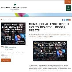Events - Climate Challenge: Bright Lights, Big City ... Bigger Debate