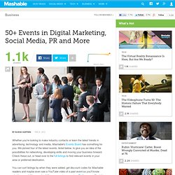 50+ Events in Digital Marketing, Social Media, PR and More