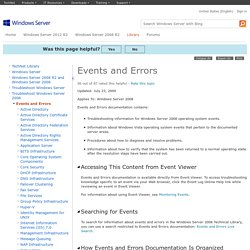 Events and Errors