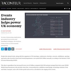 Events industry helps power UK economy