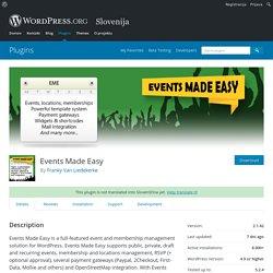 Events Made Easy – WordPress plugin