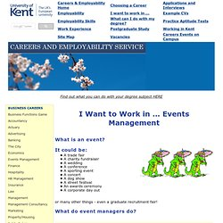 Events Management Careers
