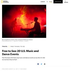 Free U.S. Music and Dance Events
