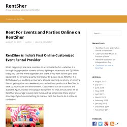 Rent For Events and Parties Online on RentSher