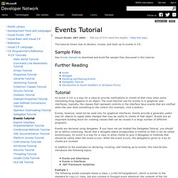 Events Tutorial (C#)