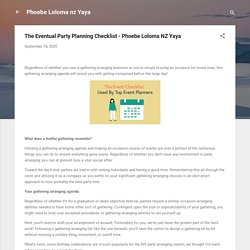 The Eventual Party Planning Checklist - Phoebe Loloma NZ Yaya