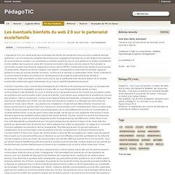 Les éventuels bienfaits du web 2.0 sur le partenariat école/famille