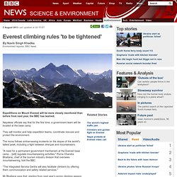 Everest climbing rules 'to be tightened'