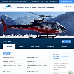 Mt Everest Helicopter Tour Cost