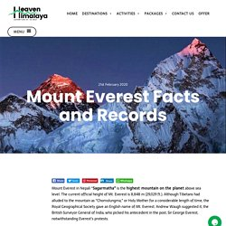 Mount Everest Facts and Records