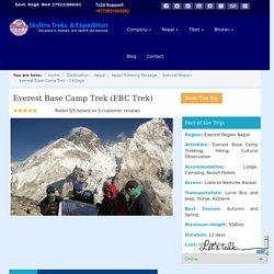 Everest Base Camp trekking - Skyline Treks