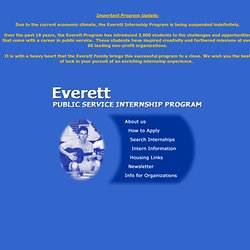 Everett Public Service Internship Program