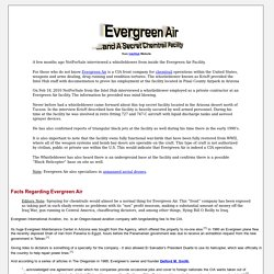Evergreen Air and A Secret Chemtrail Facility