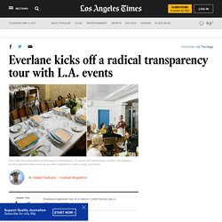 Everlane kicks off a radical transparency tour with L.A. events