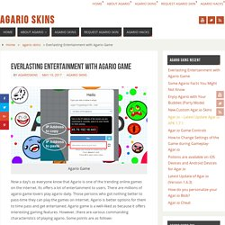 Everlasting Entertainment with Agario Game