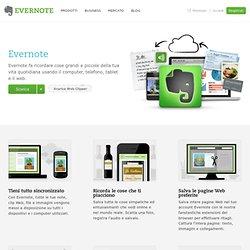 Usare Evernote per salvare e sincronizzare note, pagine Web, file, immagini e altro ancora.
