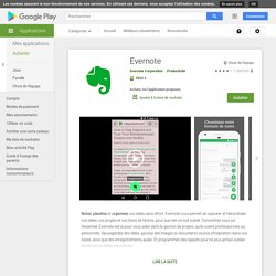 Evernote – Applications Android sur GooglePlay