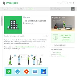 The Evernote Business Essentials