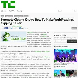 Evernote Clearly Knows How To Make Web Reading, Clipping Easier