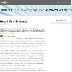 How I Use Evernote