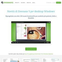 Novità di Evernote 5 per desktop Windows