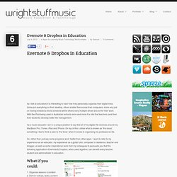 Evernote & Dropbox in Education