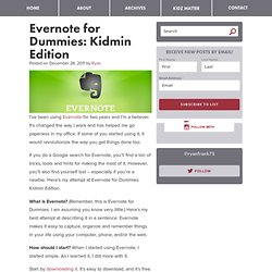 Evernote for Dummies: Kidmin Edition