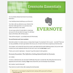 A Complete Getting Started Guide for Evernote