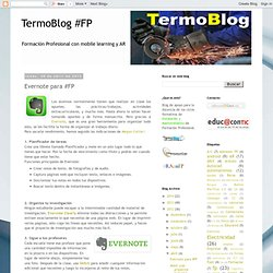 TermoBlog #FPentumovil: Evernote para #FP