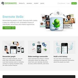 Hello | Evernote Corporation