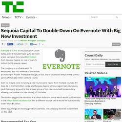 Sequoia Capital To Double Down On Evernote With Big New Investment