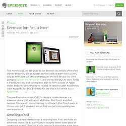for iPad is here! « Evernote Blogcast